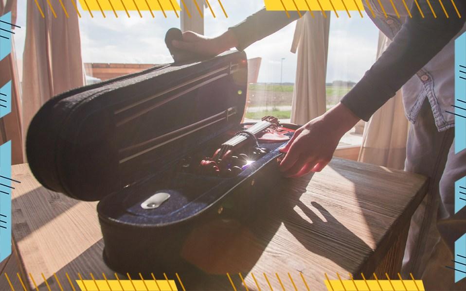 violin travel case