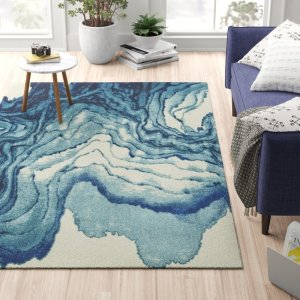zipcode abstract stuart blue area rug