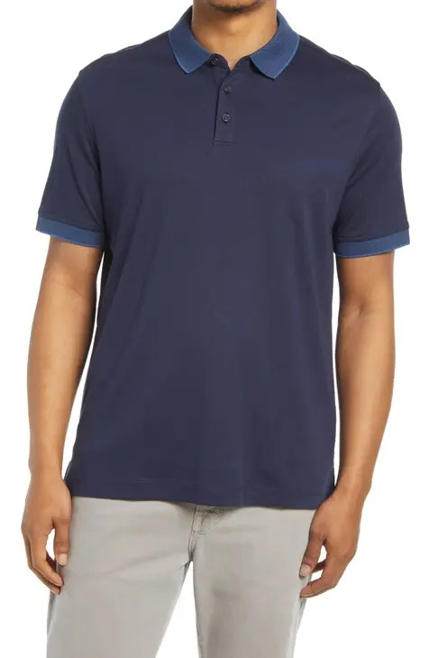 Nordstrom Short Sleeve Tipped Polo