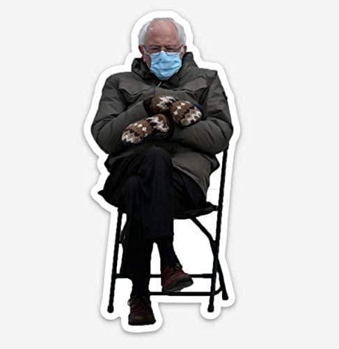 Bernie Sanders Mittens Sitting Inauguration Magnet