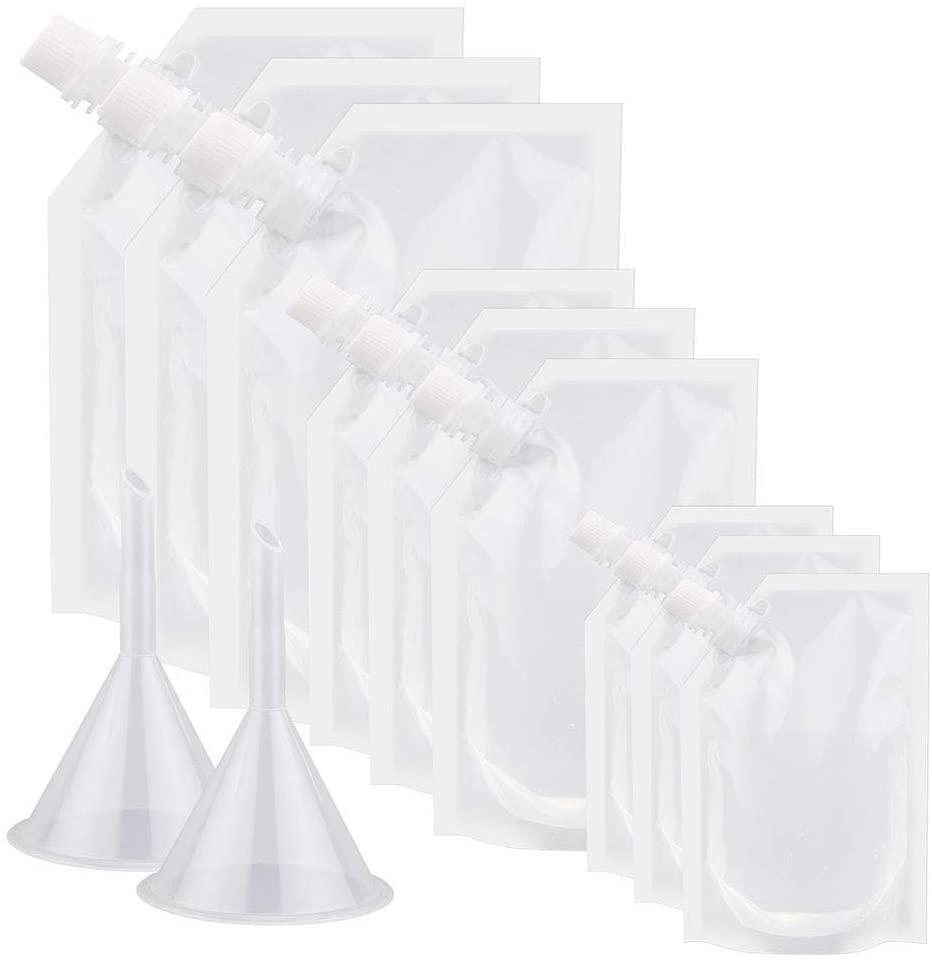 Alcoon 11 Pieces Plastic Liquor Flask