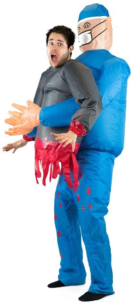inflatable doctor killer costume