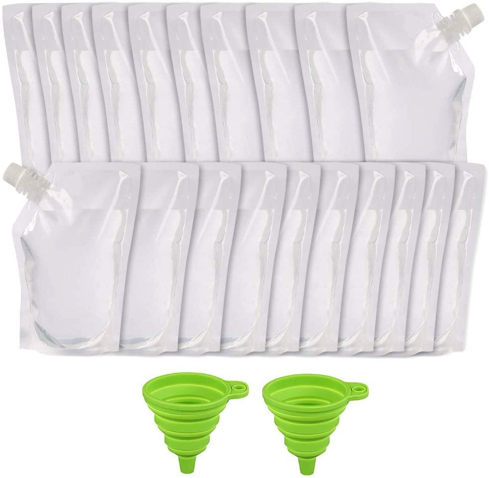 20pcs 16oz Plastic Flask for Liquor