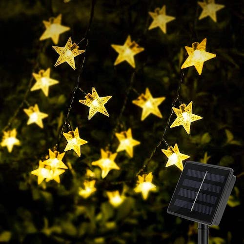 KeShi 100 LED Solar Star String Lights