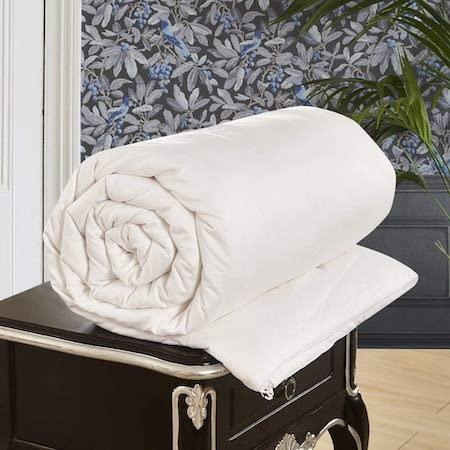 LilySilk All Season White Silk Comforter with Cotton Cover