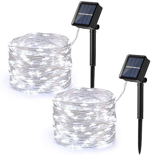 Brizled 120 LED Outdoor Solar Fairy Lights, 2-Pack