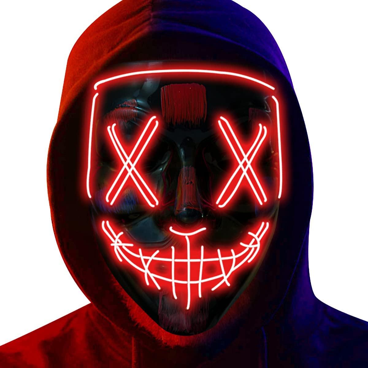 Poptrend Halloween Mask LED Light up Mask
