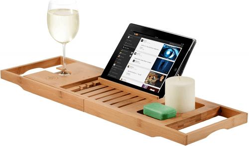 bamboo bathrub tray