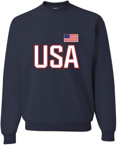 USA crewneck, Olympics 2021 gear