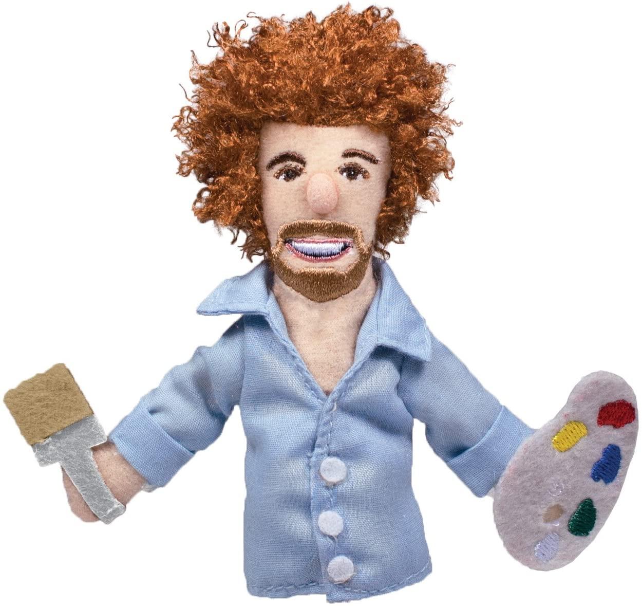 Bob Ross Finger Puppet and Refrigerator Magnet