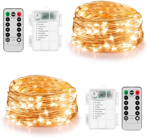 best battery operated christmas lights - Koxly 60 LED Battery Operated Fairy Lights
