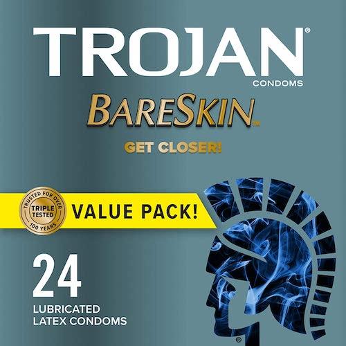 1. TROJAN Bareskin Thin Premium Condoms
