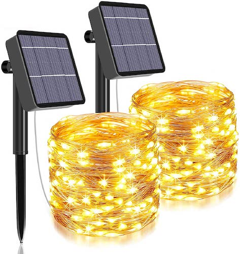 Qaxlry 480 LED Solar String Lights, 2-pack