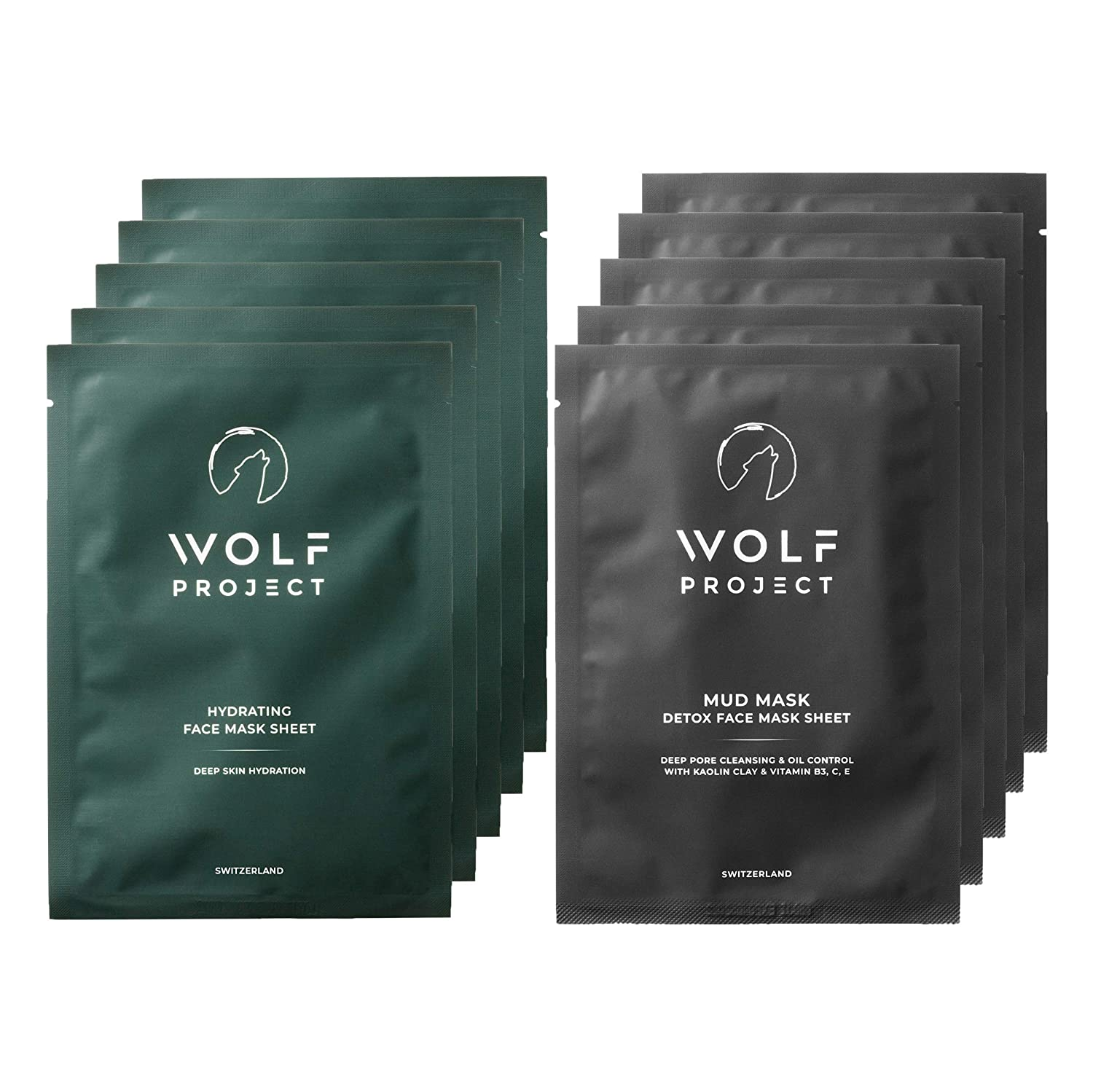 Wolf Project Deep Cleansing & Hydrating Sheet Mask Set