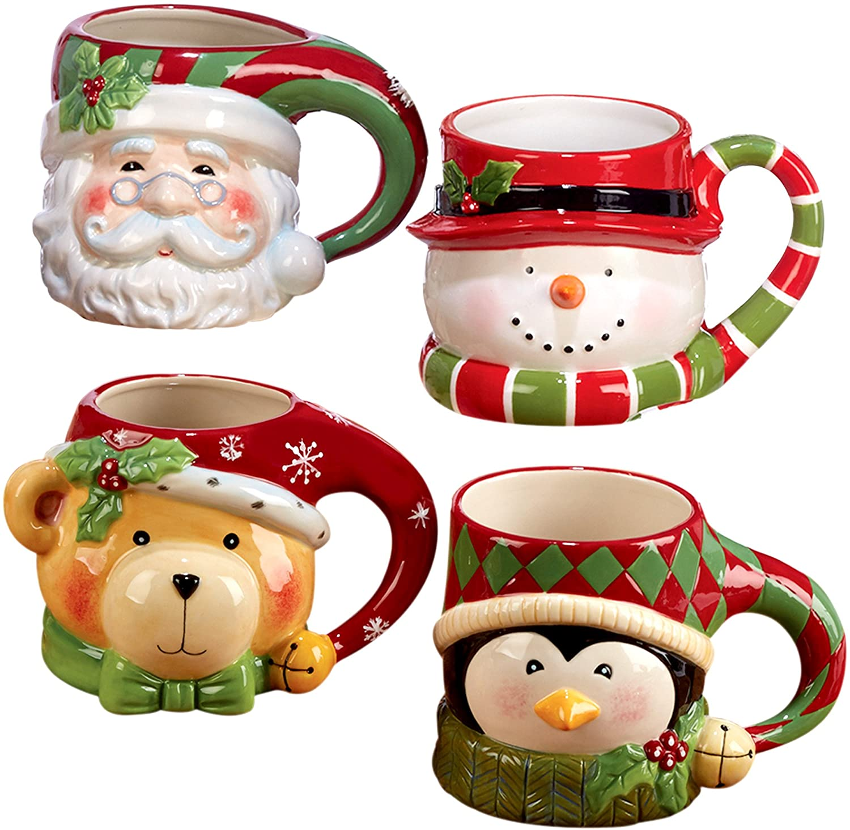 Santa, Snowman, Penguin & Bear Set
