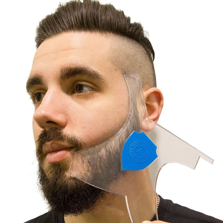 Man uses Aberlite ClearShaper Beard Shaper
