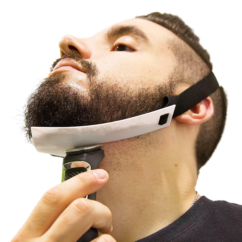 Man uses Aberlite FlexShaper Beard Shaper; best beard shaping tools