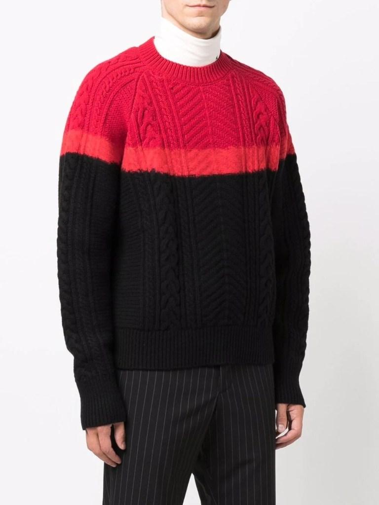 Alexander-McQueen-Long-Sleeve-Cable-Knit-Jumper