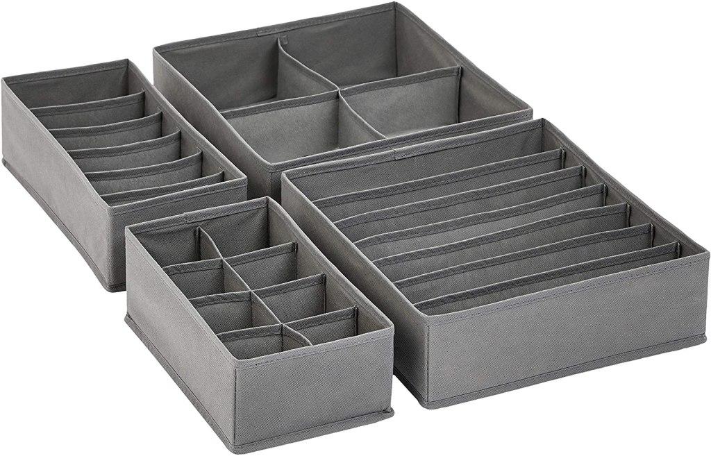 Amazon Basics Grey Dresser Drawer Storage Organizer
