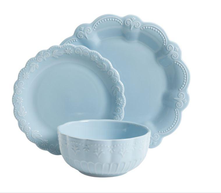The Pioneer Woman Toni Linen Dinnerware Set, Kitchen Essentials