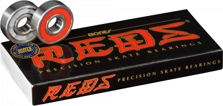 Bones Reds Skateboard Bearings, 8 pack