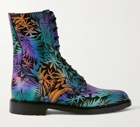 Celine-Homme-Printed-Leather-Boots