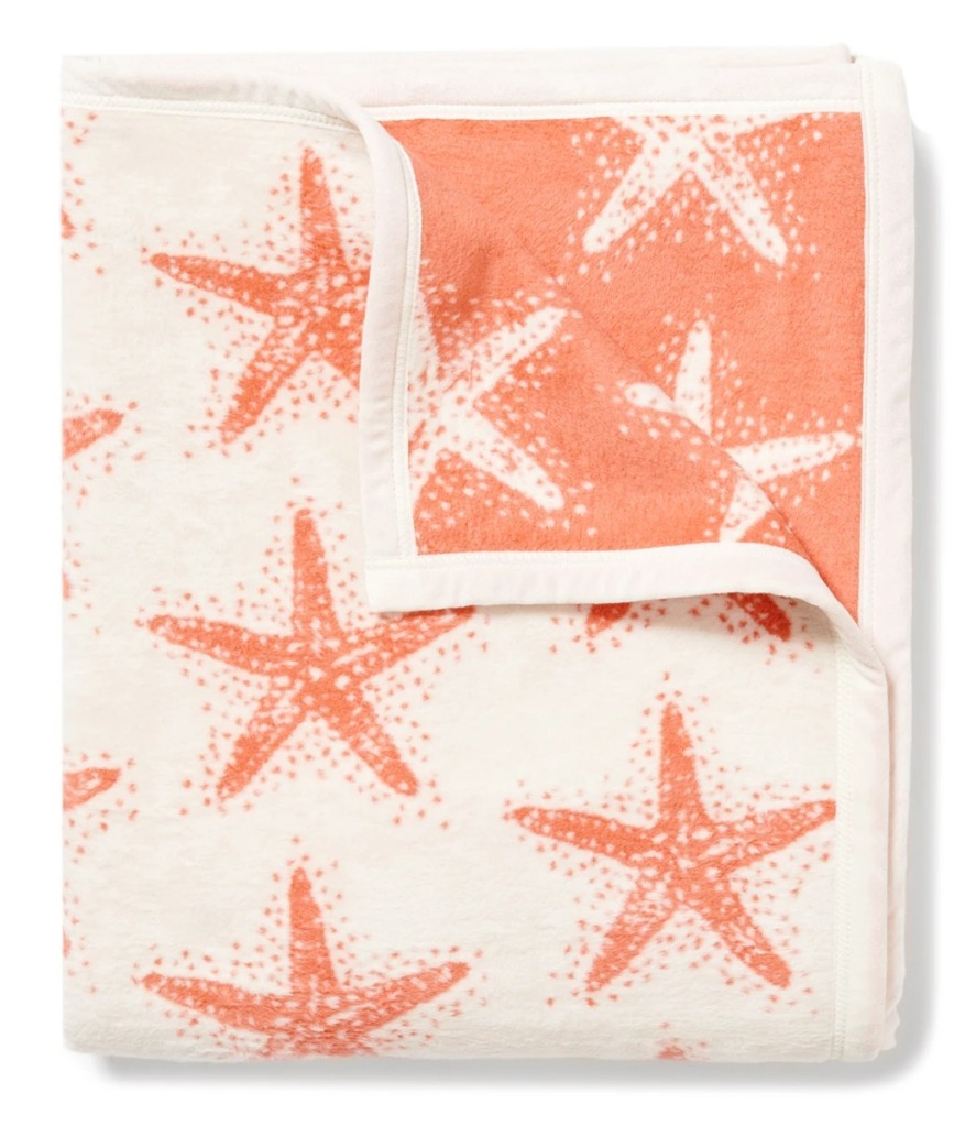 Sea Stars Coral Blanket from ChappyWrap