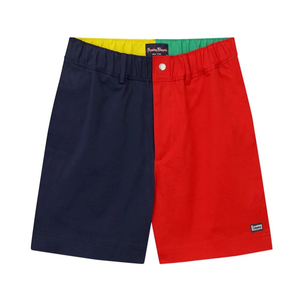 Colorblock Cotton Shorts