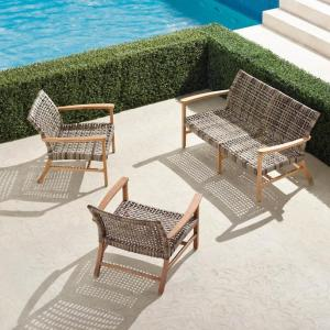 isola 3-piece loveseat set, Frontgate outdoor furniture