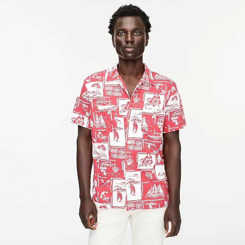 J.Crew Short-Sleeve Harbor Shirt in Print