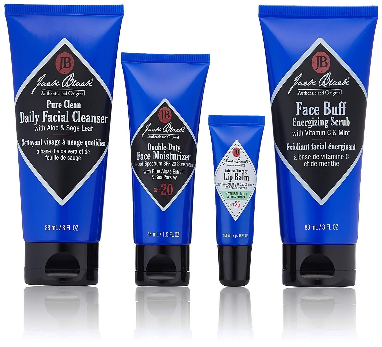 Jack Black Skin Saviors Set; best skincare sets for men / skincare gift sets