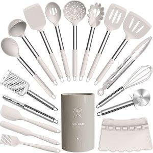 Jamoon silicone cooking utensils set, kitchen gadgets under $50