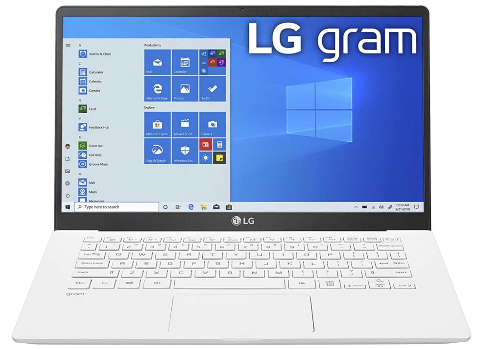 LG Gram laptop for photo editing