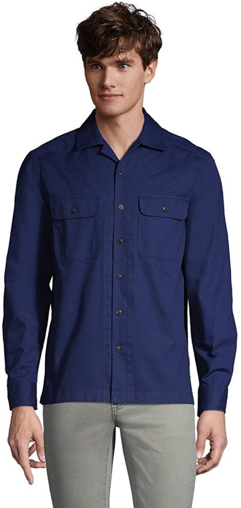 Land's End Traditional Fit Camp Collared Shirt