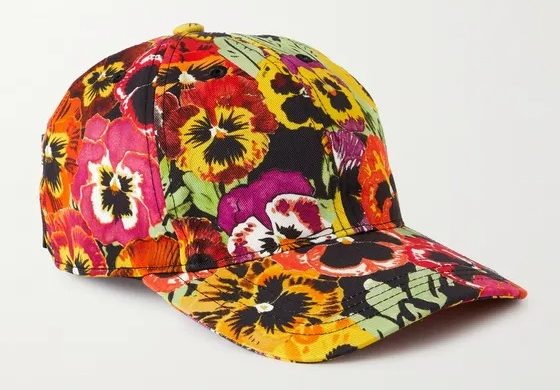 Loewe X Joe Brainard Floral Print Cotton-Twill Baseball Cap