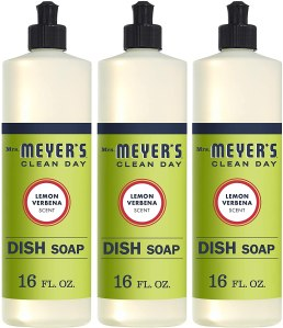 Mrs. Meyer's clean dish soap, how to clean wood furniture