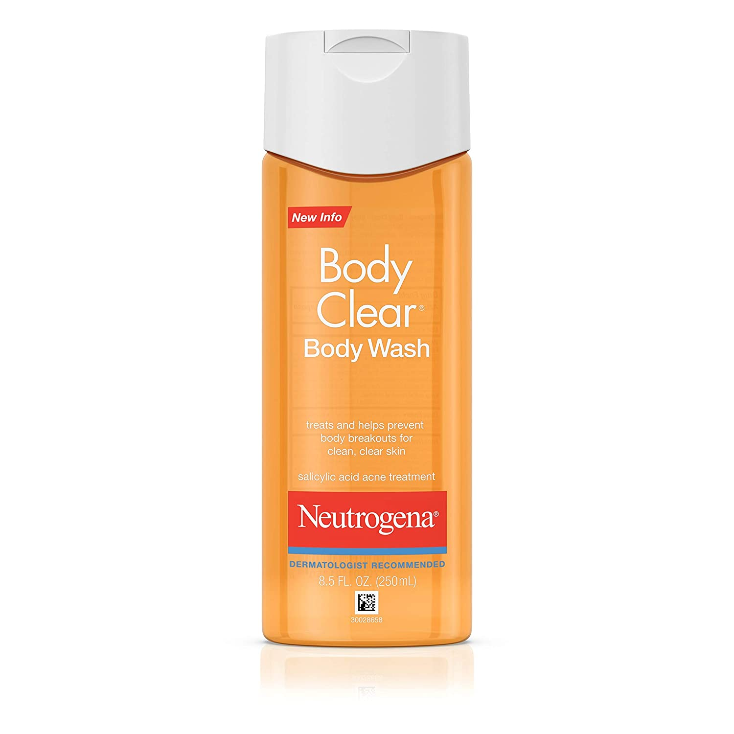 Neutrogena Body Clear Body Wash for Clean and Clear Skin; best body wash for acne