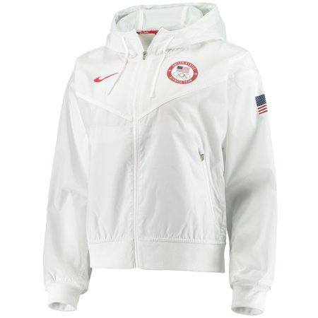Nike 2020 Summer Olympics White Women's Windrunner Full-Zip Jacket