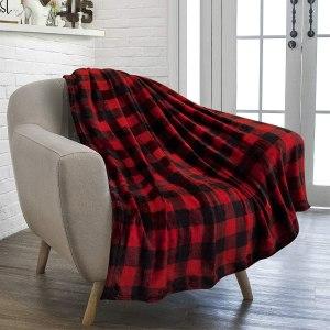 best flannel blankets pavilia buffalo plaid
