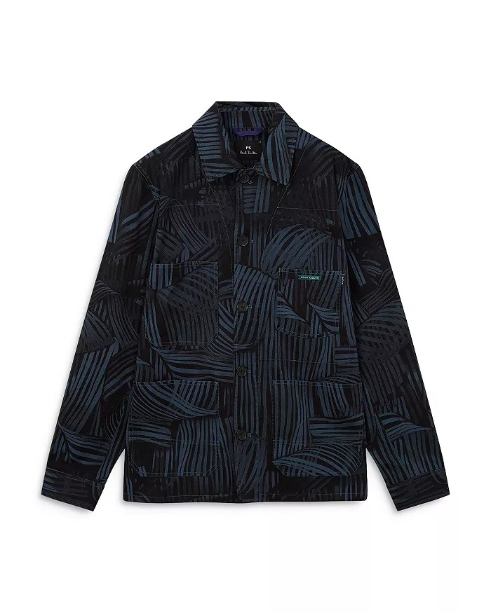 PS-Paul-Smith-Distorted-Stripe-Print-Chore-Jacket