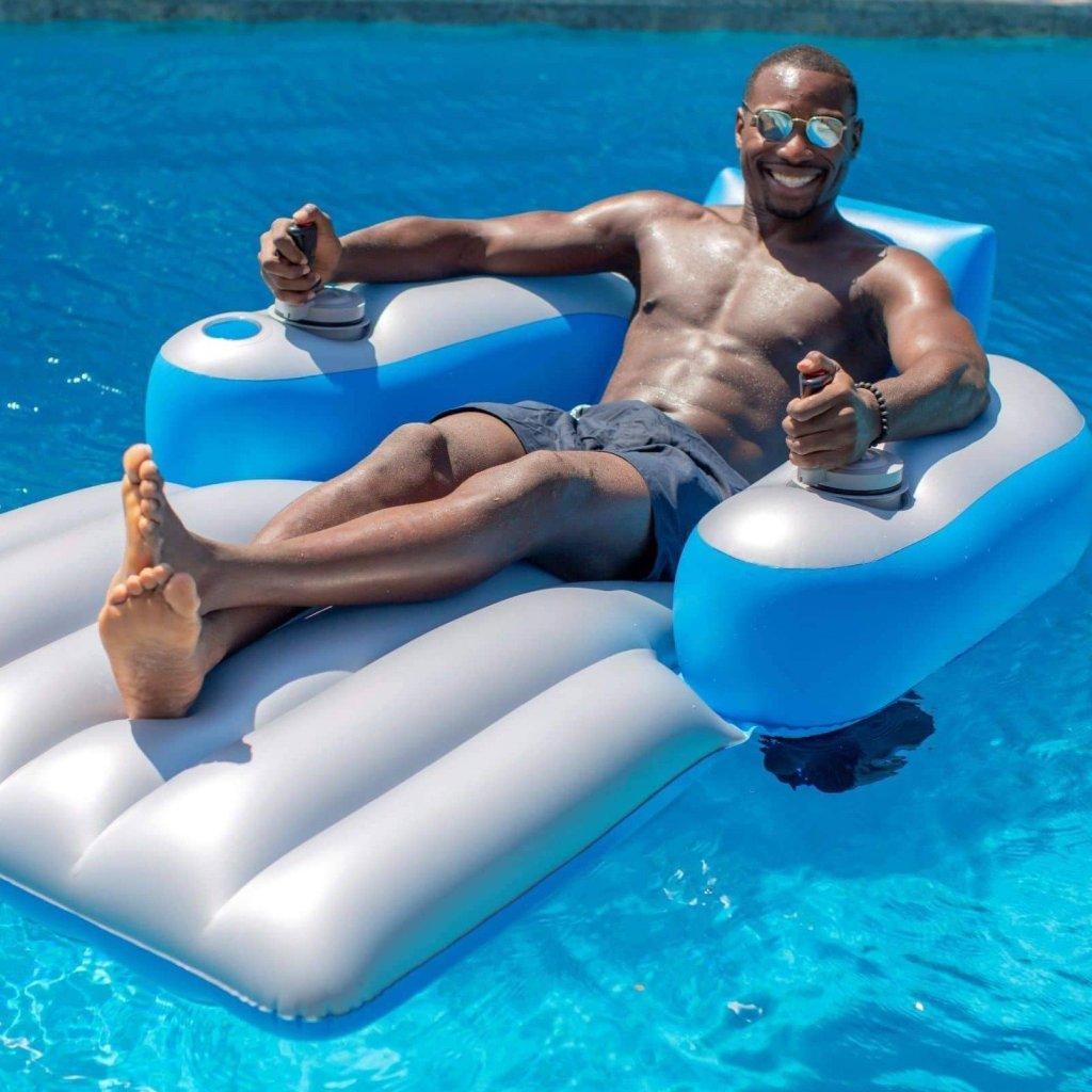 PoolCandy Splash Runner Motorized Pool Lounger