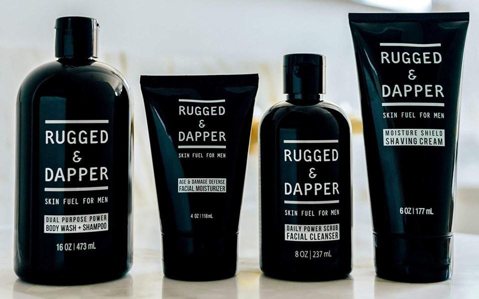 Rugged & Dapper Skincare set rests