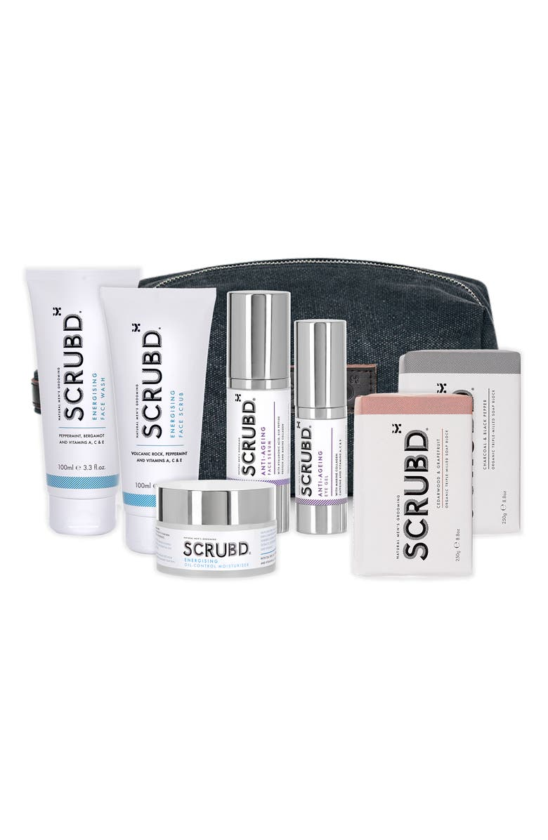 SCRUBD Complete Collection; skincare sets for men