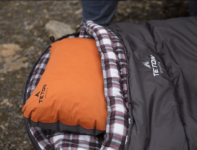 teton inflatable camping pillow