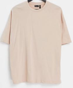 ASOS DESIGN Oversized T-Shirt In Beige