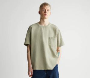 Zara Textured Pocket T-Shirt
