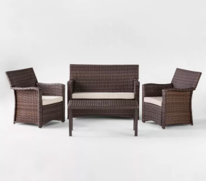 Halsted all-weather wicker patio set, best outdoor furniture sets