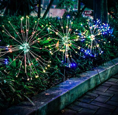 Qishi 120 LED Outdoor Solar Garden Lights