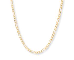 "Men's Figaro Link Chain 14K Yellow Gold 20"""