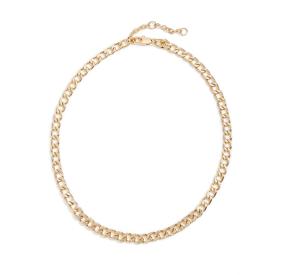 Pavé Cubic Zirconia Curb Chain Collar Necklace